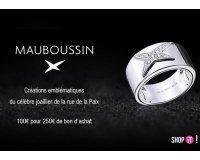 Showroomprive: Payez 100€ le bon d'achat Mauboussin d'une valeur de 250€ valable dès 750€