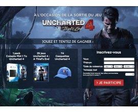 E-Leclerc: 1 pack console PS4, 25 jeux Uncharted et 74 casquettes