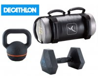 Decathlon: Kettlebell, Dumbell et Weighted Bags Domyos : 1 acheté, le 2ème à - 50%