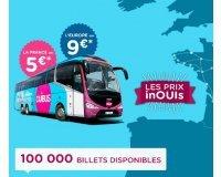 OUIBUS: Prix inOUIs : 100000 billets pour un voyage dès 5€ en France & dès 9€ en Europe