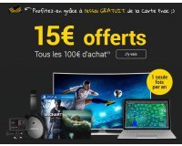 Fnac: [Offre Adhérents] 15€ offerts tous les 100€ d'achat