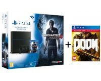 Micromania: Pack PS4 1 To + 2 jeux (Uncharted 4 : A Thief's End et DOOM) à 399,99€