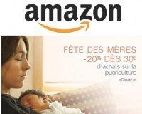 Amazon: Fête des mères : - 20% dès 30€ d'achat sur la puériculture
