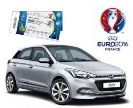 Hyundai: 1 voiture Hyundai i20 & des Places Premium pour les matchs de l'Euro à gagner