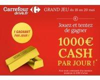 Carrefour Drive: Tentez de gagner 1000€ cash par jour