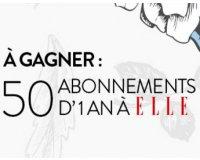 Cultura: 50 abonnements d'1 an au magazine ELLE à gagner