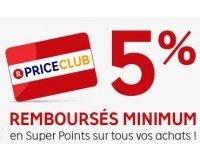 PriceMinister: 5€ offerts au 1500 premiers inscrits au PriceClub (adhésion gratuite)