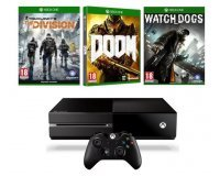 Cdiscount: Xbox One 1To + 3 jeux (The Division + Doom + Watch Dogs) à 309,99€