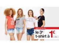 Jennyfer: Le 3ème t-shirt à 1€