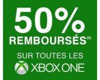 Cdiscount: 50% remboursés en 1 bon d'achat sur toutes les Xbox One
