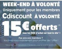 Cdiscount: 15€ offerts tous les 150€ d'achats pour les membres Cdiscount à Volonté