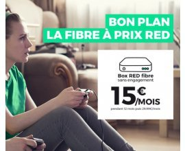 RED by SFR: Abonnement Internet Box RED fibre à 15€/mois à vie et sans engagement