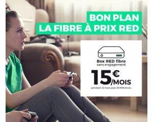 SFR: Abonnement Internet Box RED fibre à 15€/mois à vie et sans engagement