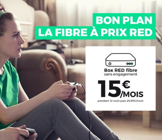 Code promo SFR : Abonnement Internet Box RED fibre à 15€/mois à vie et sans engagement