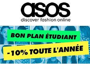 Code promo ASOS : [Offre étudiants] -10% de réduction toute l'année