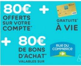 Hello bank!: 160€ offerts (80€ sur votre compte & 80€ en bon d'achat) + carte VISA gratuite