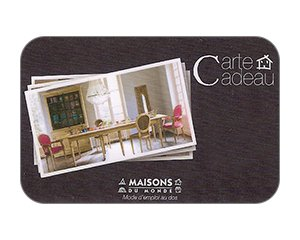 cartes cadeaux maisons du monde jusqu 39 3 de r duction. Black Bedroom Furniture Sets. Home Design Ideas