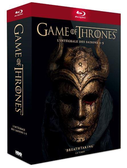 Code promo Fnac : Game of Thrones - L'intégrale des saisons 1 à 5 en Blu-ray à 33,99€
