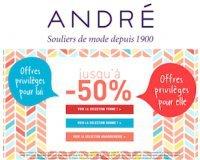 André: Jusqu'à -50% sur une sélection de chaussures femme, homme et sur la maroquinerie