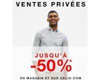 Celio*: Jusqu'à -50% sur les produits signalés pendant les ventes privées pré-soldes