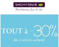 Sergent Major: Tout à -30% dès 2 articles achetés