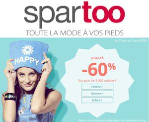Code promo Spartoo : Jusqu'à -60% sur une sélection d'articles femme, homme et enfant