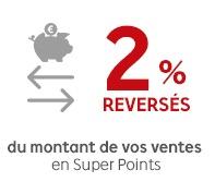 Code promo Rakuten : Bonus vendeur : récupérez 2% du montant de vos ventes en Rakuten Super Points