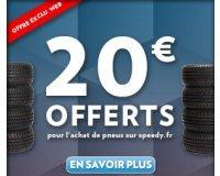 Speedy: 20€ offerts sur votre prochaine visite pour l'achat et la pose de pneus