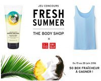 The Body Shop: 50 Box Fraicheur (comprenant 1 Sorbet Corporel et 1 T-shirt Airism) à gagner