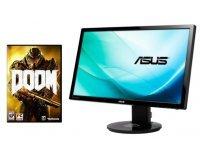 Amazon: Ecran PC Gamer LED 24'' Asus VG248QE + le jeu PC Doom pour 259,12€