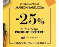 Marionnaud: -25% sur votre produit préféré