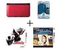 Cdiscount: Pack Nintendo 3DS XL Rouge + 2 jeux + pack d'accessoires Bleu Konix à 134,99€