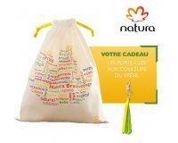 Natura Brasil: Bolsa avec 3 produits +1 porte-clés aux couleurs du Brésil offert