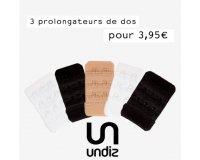 Undiz: 3 prolongateurs de dos pour 3,95€ au lieu de 5,85€