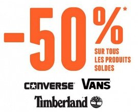 Courir: 50% de remise sur tous les produits soldés Converse, Vans et Timberland