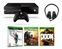 Fnac: Xbox One 500 Go + Doom + Quantum Break + Titanfall + Casque à 269€
