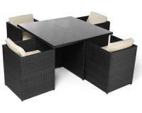 Maginéa: Le salon de jardin 4 fauteuils + 1 table à -60%