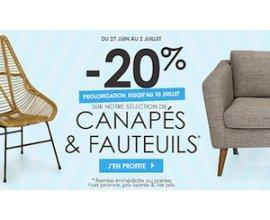 Alinéa: -20% sur une sélection de canapés et fauteuils