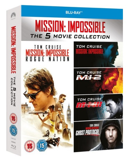 Code promo Zavvi : Coffret Blu-ray Mission Impossible 1 à 5 à 10,99€
