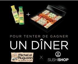 Sushi Shop: Tentez de remporter un repas Sushi Shop & Michel et Augustin pour 4 personnes
