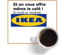 IKEA: Café offert du lundi au vendredi sur présentation de la carte IKEA FAMILY