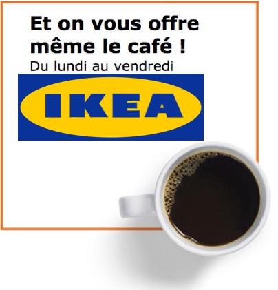 Code promo IKEA : Café offert du lundi au vendredi sur présentation de la carte IKEA FAMILY