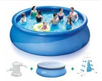 Rue du Commerce: Piscine autoportante ronde Quick set pool - Ø 4.57 x H 1.22m à 199€
