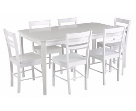 BUT: Table + 6 chaises LUCIE Blanc à 245,87€