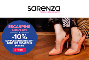 Code promo Sarenza : -10% supplémentaires sur tous les escarpins soldés