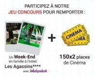 Franprix: 1 week end en famille et 150 places de cinéma à gagner