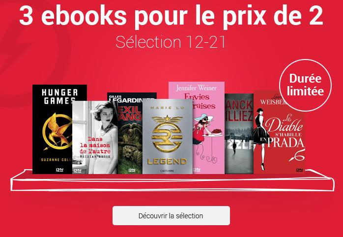 Code promo Fnac : 3 ebooks pour le prix de 2