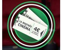 """BNP Paribas: 100 000 contremarques Cinéma de 4€ la séance pour """"La Rentrée Cinéma"""" offertes"""