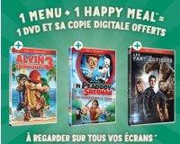 McDonald's: 1 DVD offert et sa copie digitale pour l'achat d'un menu et d'un Happy Meal
