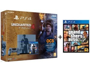 promotion pack ps  to edition limitee uncharted a thiefs end gta v